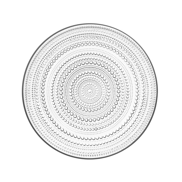 Iittala Kastehelmi Glass Serving Plate by Oiva Toikka