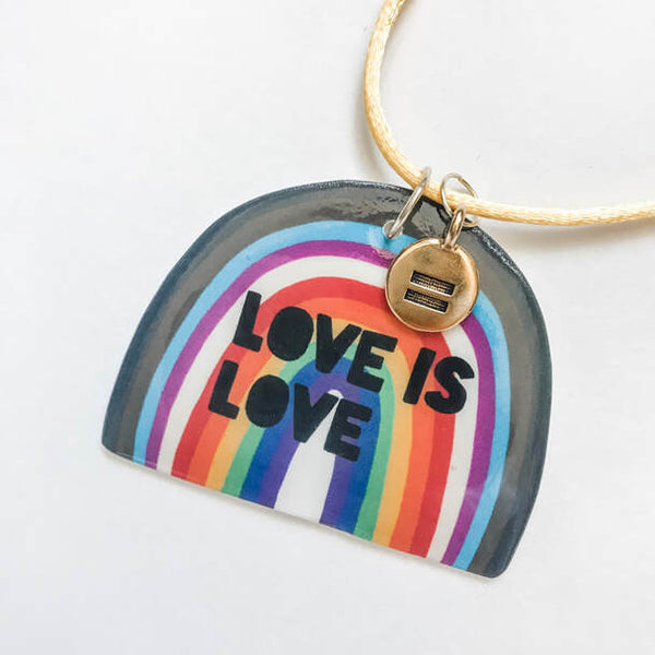 pride month LGBTQ+ necklace Love is Love