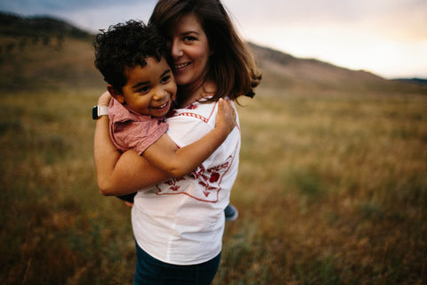 transracial adoptive mother and son