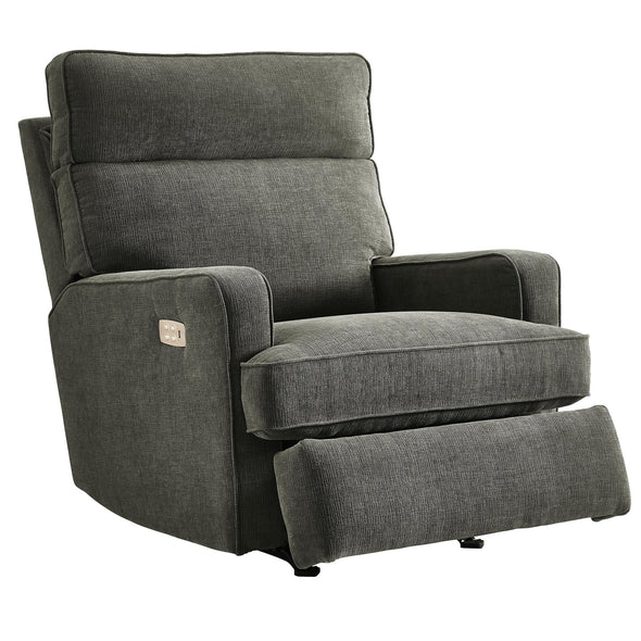 Kizzie Dual Power Rocking Recliner - Gray - N/A