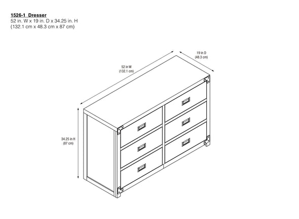 Wyatt 6-Drawer Dresser - Classic White - N/A
