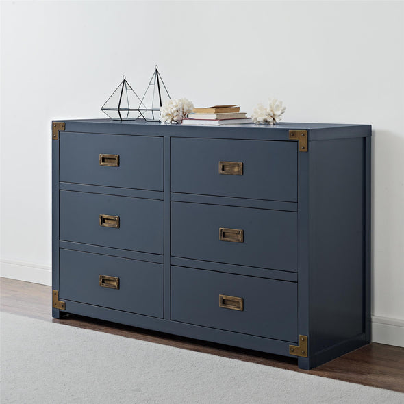 Wyatt 6-Drawer Dresser - Graphite Blue - N/A