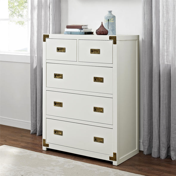 Wyatt 5-Drawer Chest - Classic White - N/A