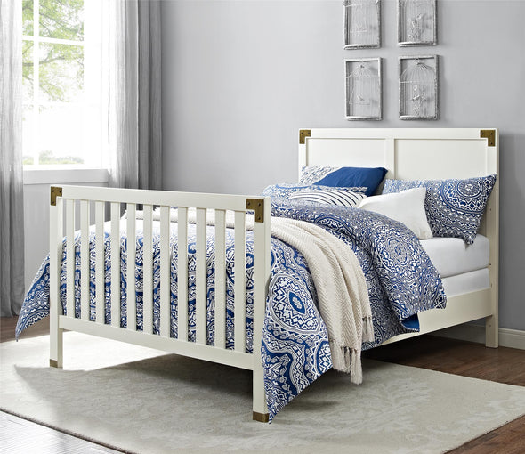 Wyatt Wooden Bed Rails - Classic White - N/A