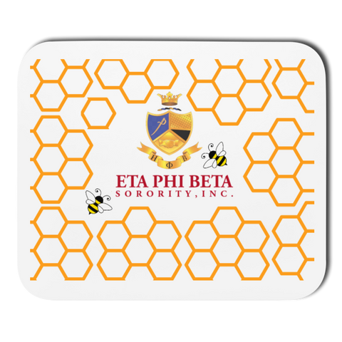 Eta Phi Beta Mousepad - white