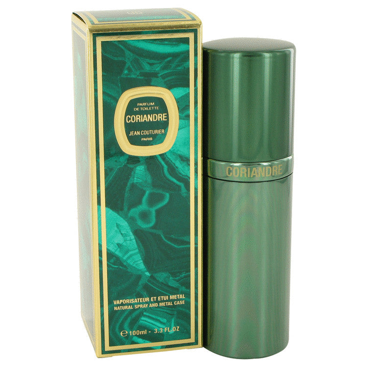 CORIANDRE by Jean Couturier Parfum De Toilette Spray (Metal Case) 3.4 oz for Women
