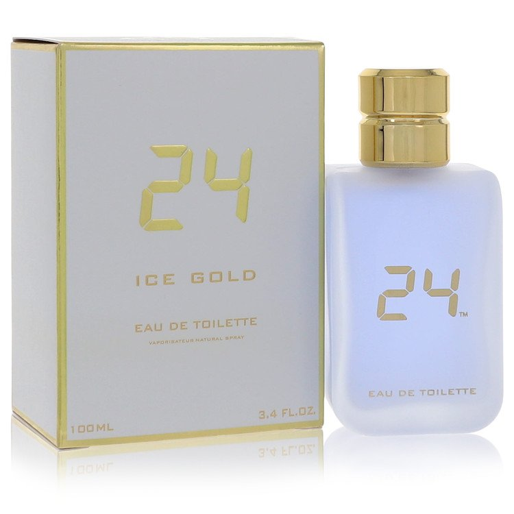 24 Ice Gold by ScentStory Eau De Toilette Spray 3.4 oz for Men