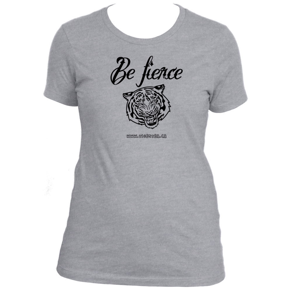 Be fierce scoop neck tiger t-shirt