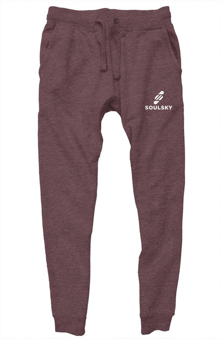 SOULSKY Unisex Jogger - Heather Wine
