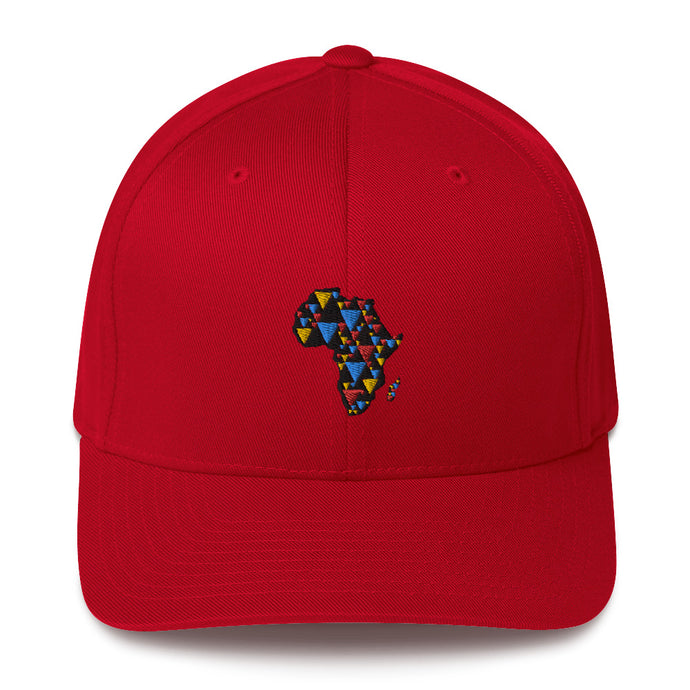 AFRICA IS ELECTRIC Baseball Cap (black background) - SOULSKY
