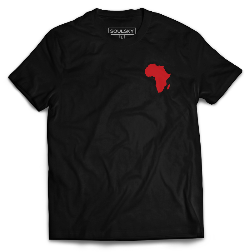 AFRICA IN MY HEART Tee - Black - SOULSKY