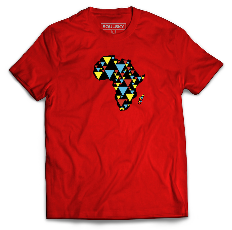 AFRICA IS ELECTRIC Tee - Red - SOULSKY