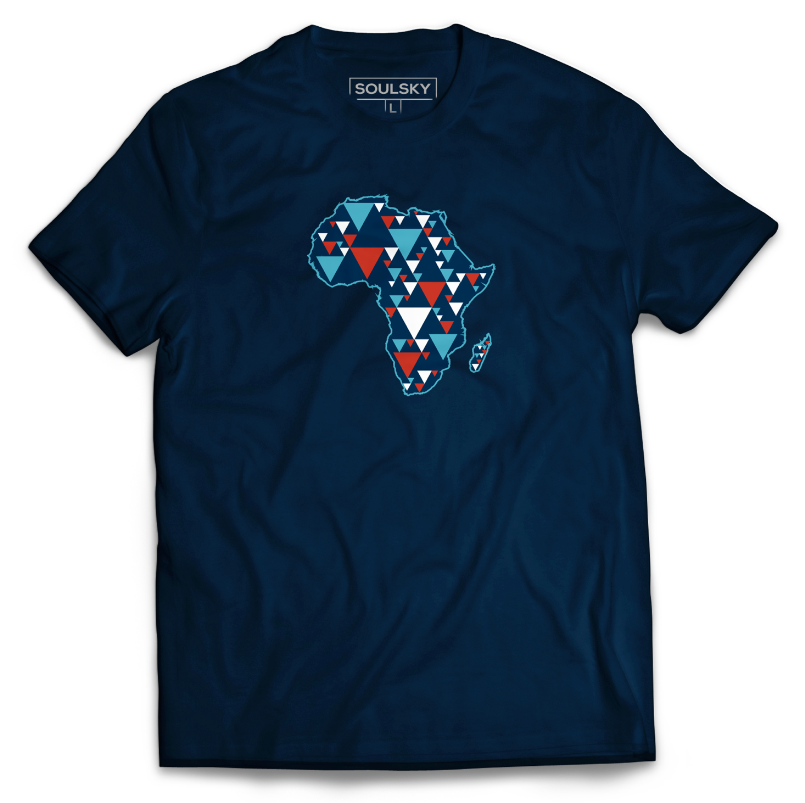 AFRICA IS ELECTRIC Tee - Navy Blue - SOULSKY