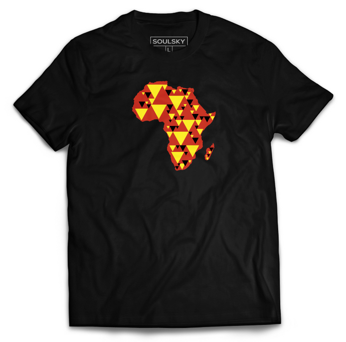 AFRICA IS ELECTRIC Tee - Red, Yellow, Black - SOULSKY