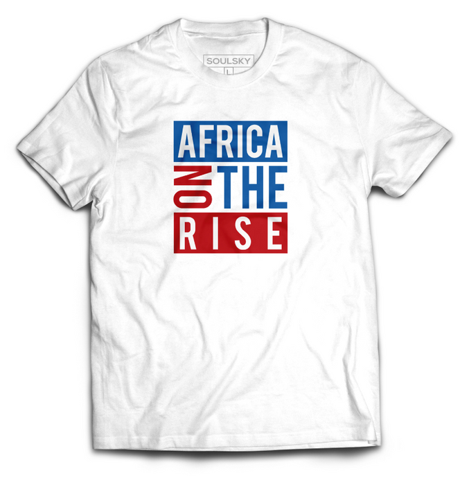 AFRICA ON THE RISE Tee - White - SOULSKY