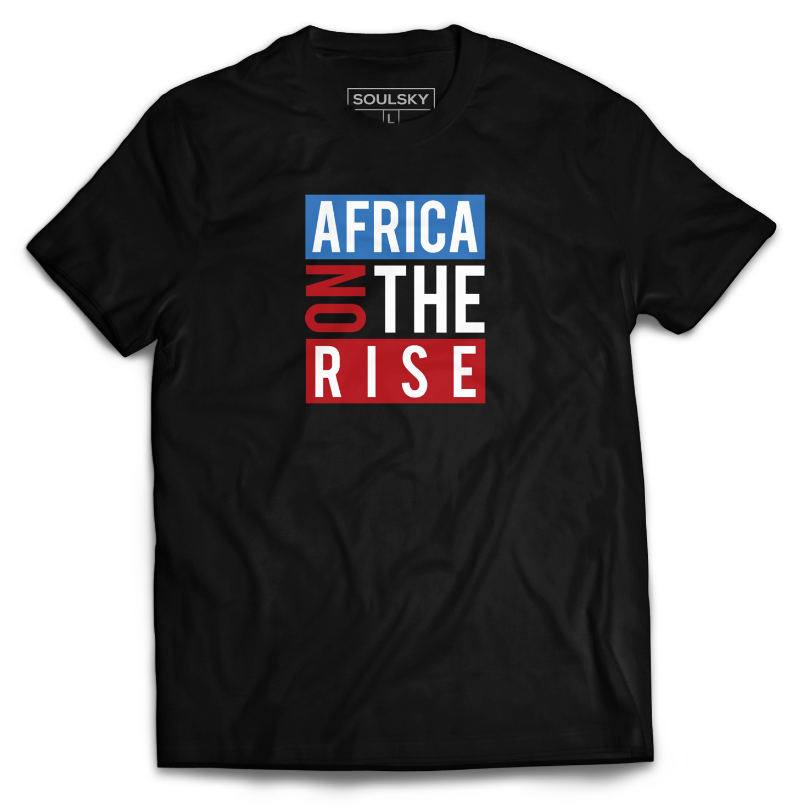 AFRICA ON THE RISE Tee - Black