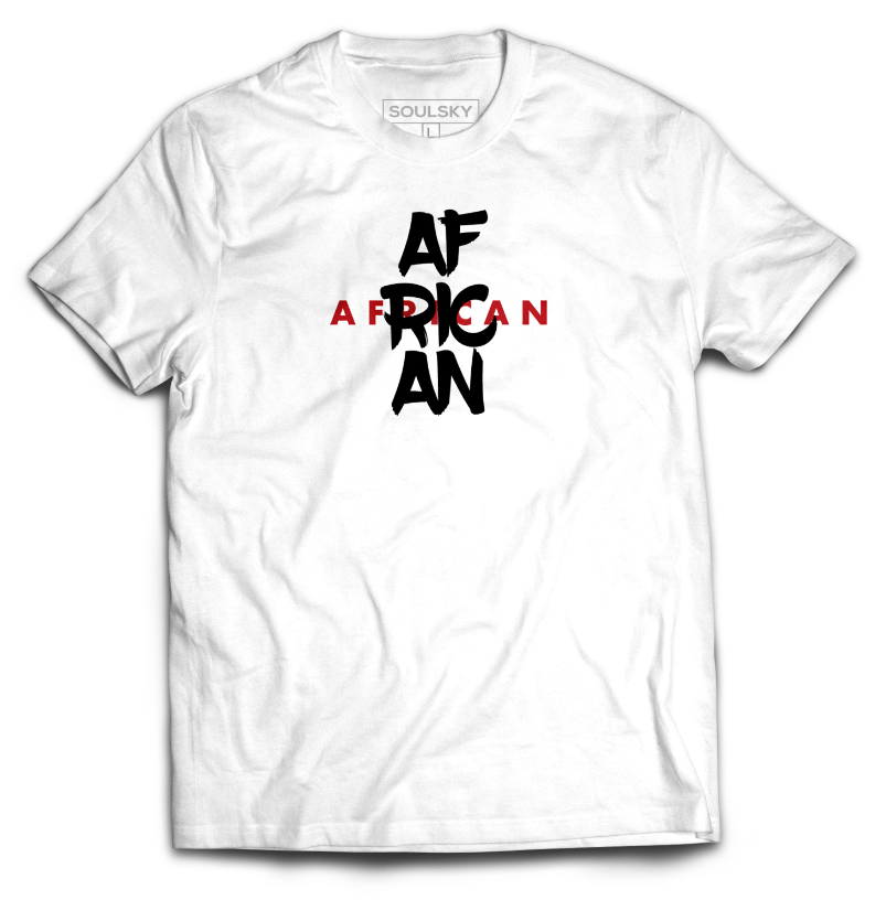 Best High Quality AFRICAN SAMURAI T-Shirt - White Online