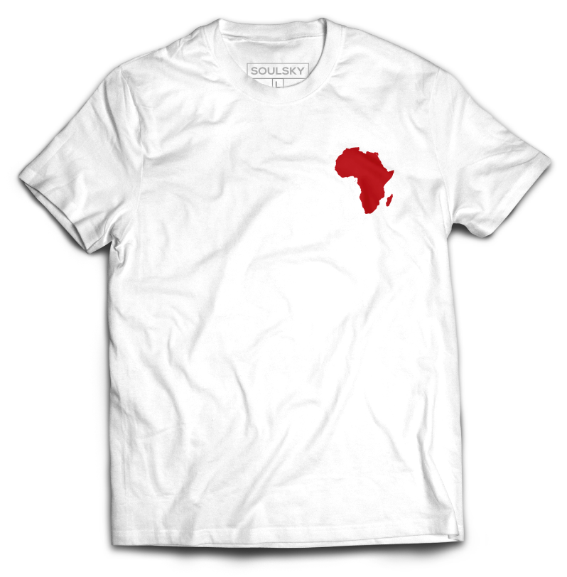 AFRICA IN MY HEART Tee - White - SOULSKY