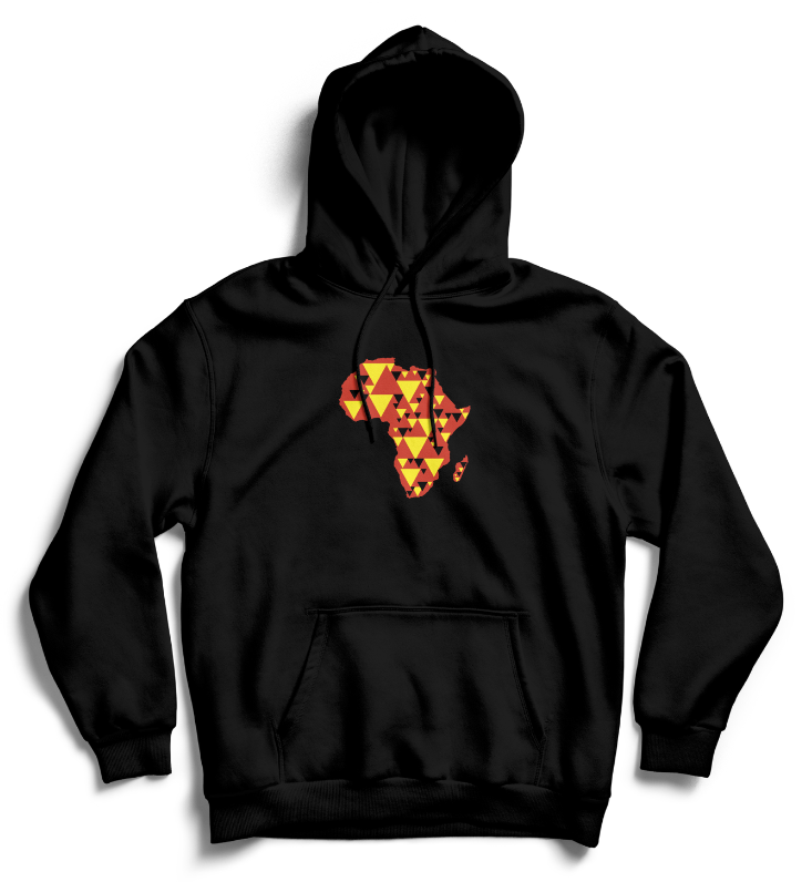AFRICA IS ELECTRIC Hoodie - Black, Red, Yellow