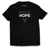 NEVER LOSE HOPE Tee - Black and Gray - SOULSKY