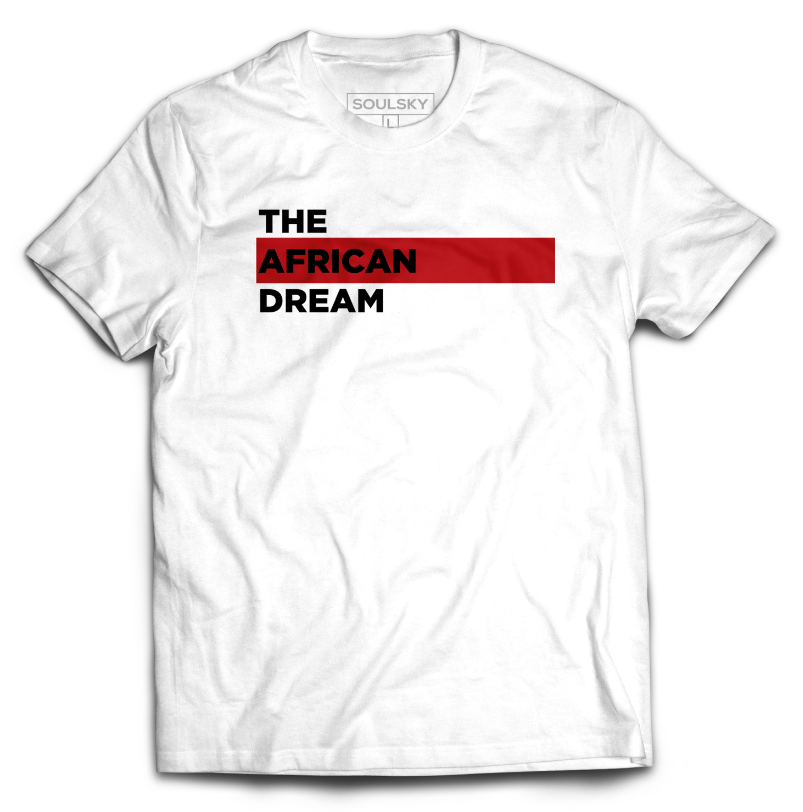 THE AFRICAN DREAM Tee - White - SOULSKY