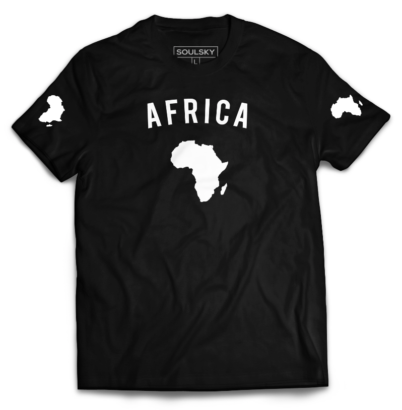 TEAM AFRICA Tee - Black - SOULSKY
