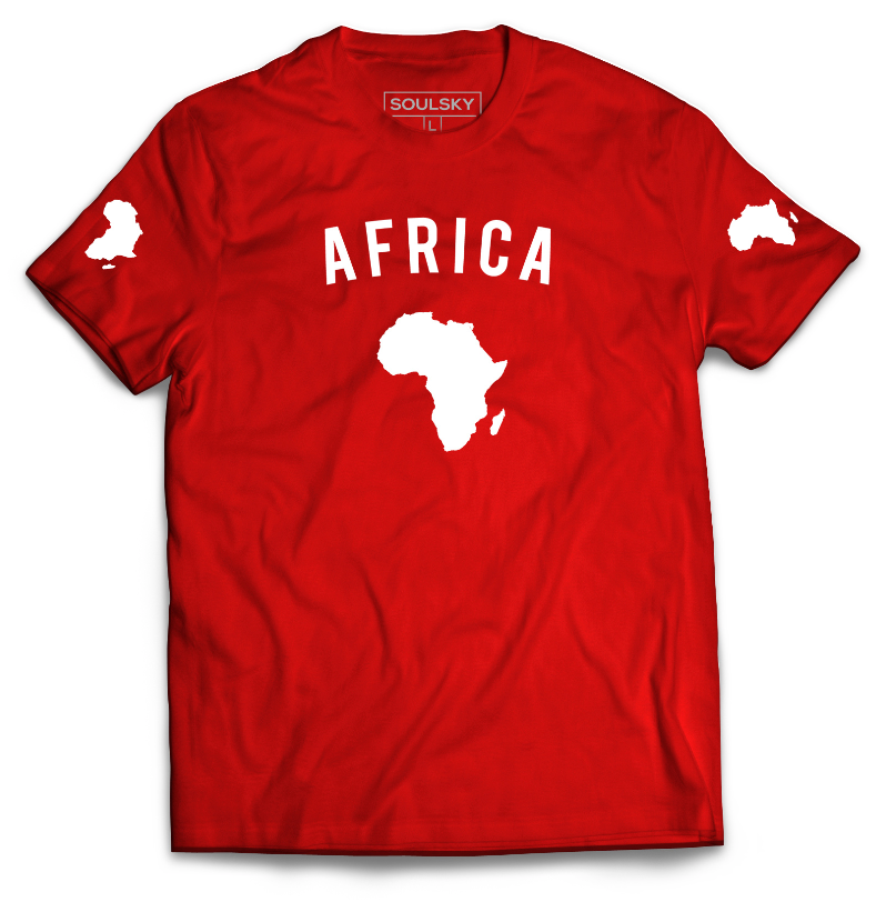 TEAM AFRICA Tee - Red - SOULSKY