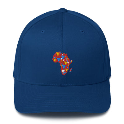 AFRICA IS ELECTRIC Baseball Cap (red background)