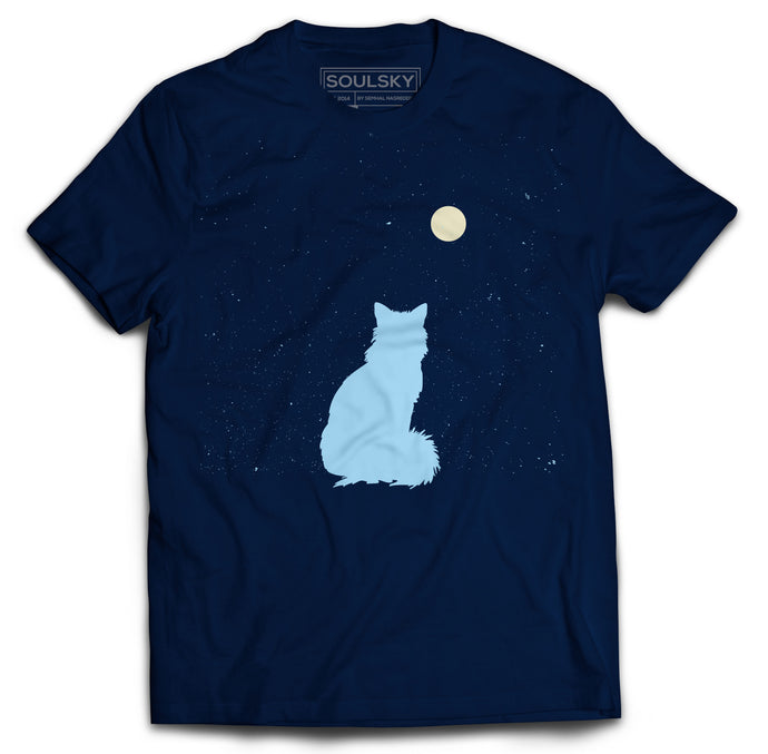 Best High Quality STAR GAZING Navy Blue T-Shirt Online