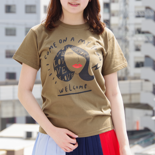 Welcome! Come on a my town / 福岡Tシャツ
