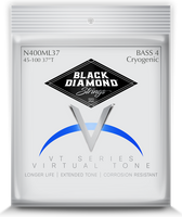 Black Diamond Four String Bass 45-100 N400ML37 Cryogenic