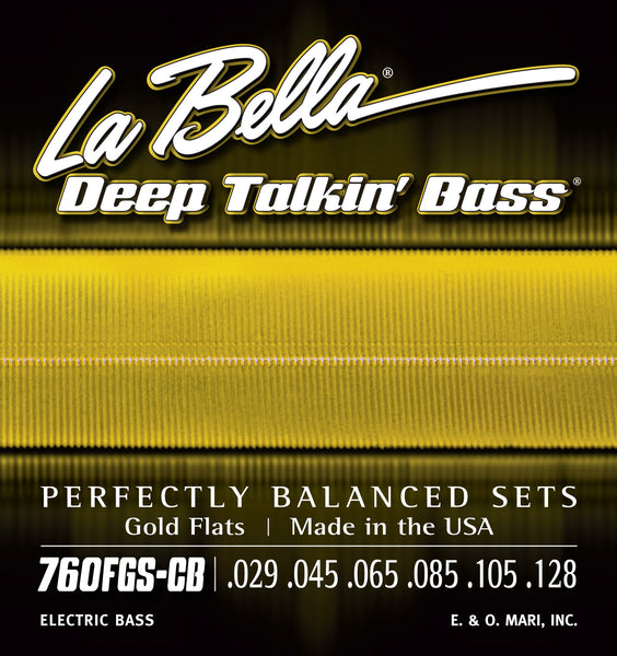 La Bella 760FGS-CB DEEP TALKIN' BASS GOLD FLATS – 6-STRING