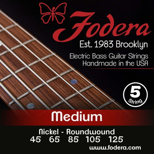 Fodera 5 String Nickel 45-125