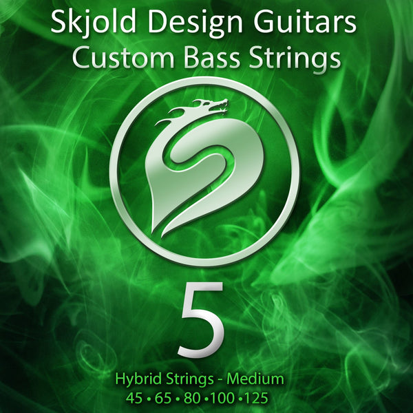 Skjold Bass Guitar Strings 5 String Bass Nickel