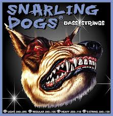 Snarling Dog Bass Guitar Strings Nickel Roundwound 4 String Bass, 045-105, Part SDN45
