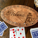 Helena Fire Tower Cribbage Board