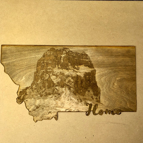 Engraved Chief Mountain Wall Art
