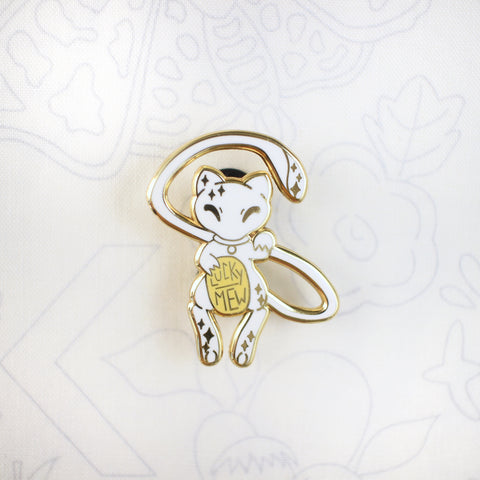 Whiteout Lucky Mew - Hard Enamel Pin