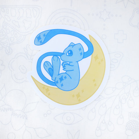 Shiny Mew Moon Sticker
