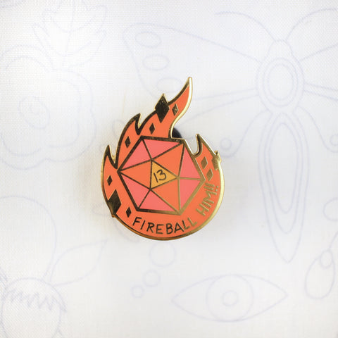Fireball Him! - Hard Enamel Pin