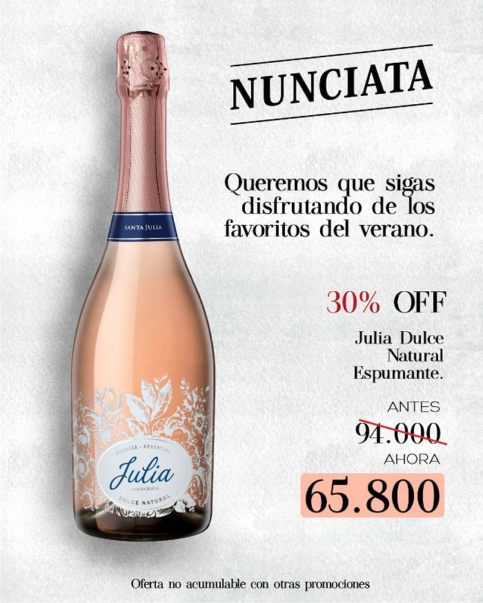 ESPUMOSO JULIA DULCE NATURAL 750ML