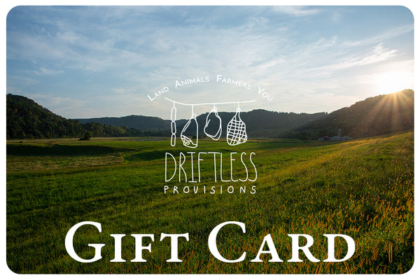 Driftless Provisions Gift Card