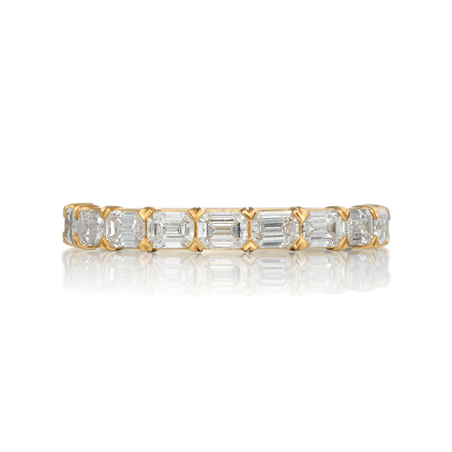 Moyer Collection 14K Gold 1.16ctw Emerald Cut Diamond Band- 073270