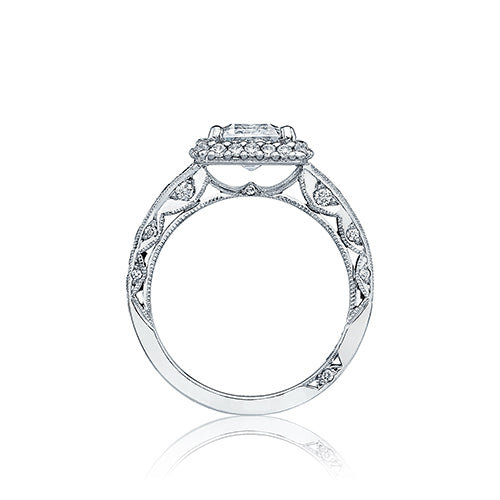 Tacori Platinum Blooming Beauties Straight Engagement Ring - HT2520EC85X65