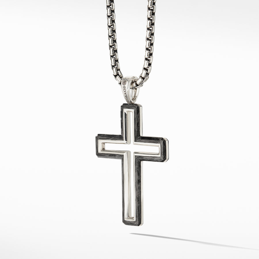 David Yurman Forged Carbon Cross Pendant - D25169MSSBFG-883932958560