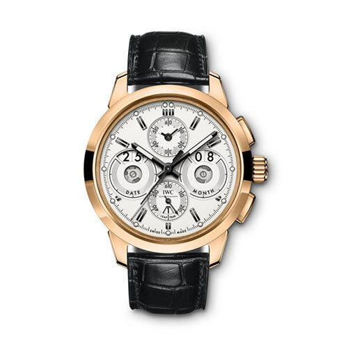 An intricate watch will always convey sophistication and style - and this timepiece from IWC brings you just that. This Gents watch can surely be an awe-striking piece once you lay eyes upon it. With a Polished bezel, this treasure represents delicate craftsmanship. The 18k Rose Gold case that encloses this pieces mechanism is also evidence of the quality that comes from this stylish item. The contrasting Silver dial color adds a pronounced sense of luxury. Also important to note is the Scratch