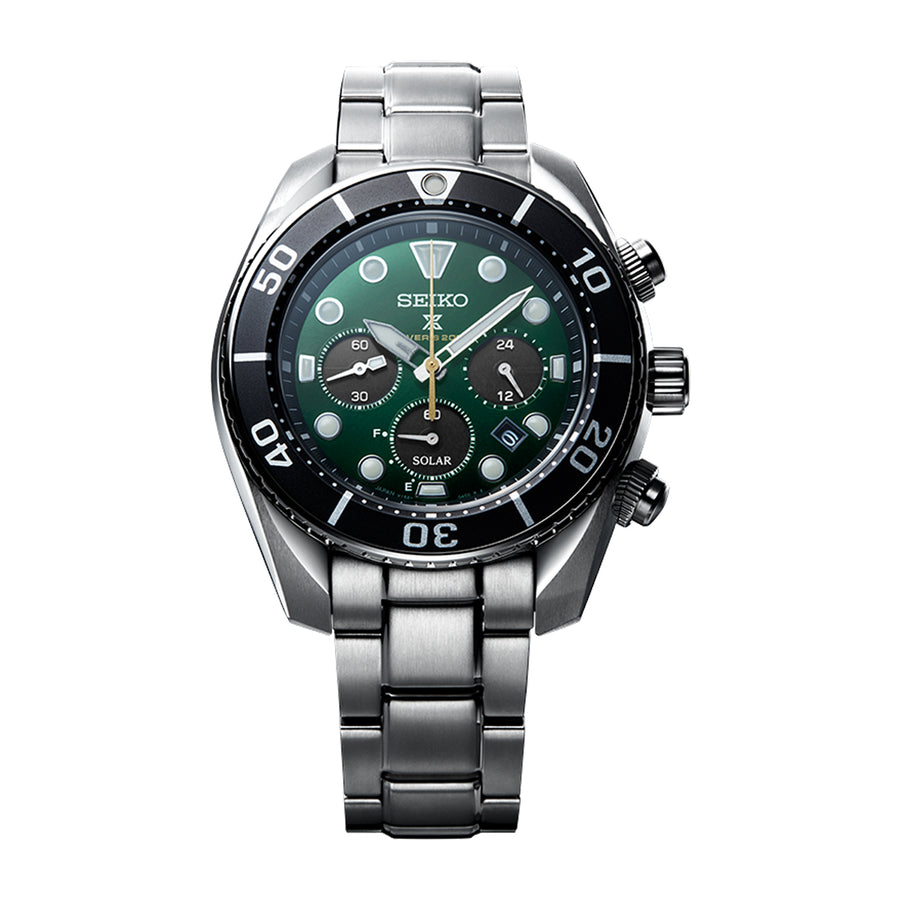 The watch incorporates a case design that has long been nicknamed SUMO by fans because of its dependable and dignified structure.The watch is water-resistant to 200 meters and has a screw-down crown to ensure the safety of the divers from any accidental operations.The watch is offered with an additional dark green silicone strap.LIMITED EDITION OF 4,000 - AVAILABLE APRIL 2021!Caliber NumberV192Movement TypeSolarAccuracy15 seconds per monthDurationOperating for approx. 6 months (when fully charge