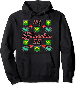 HI Fashion - Hawaiian Designer Inspired Pullover Hoodie