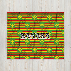 Kanaka Flag with Tribal Triangle patterned throw.  Features KANAKA in the middle of the throw.  Show off your Hawaiian pride, 808 Style, Kanaka pride with this throw pillow. #Hawaiian #Kanaka