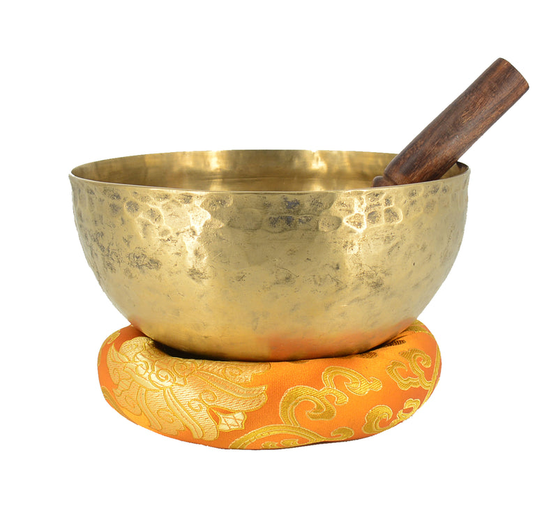 "7"" High Quality Hand Hammered Singing Bowl with Mallet & Ring Cushion"